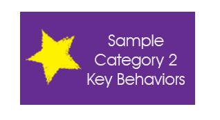 Sample Category 2 Key Behaviors