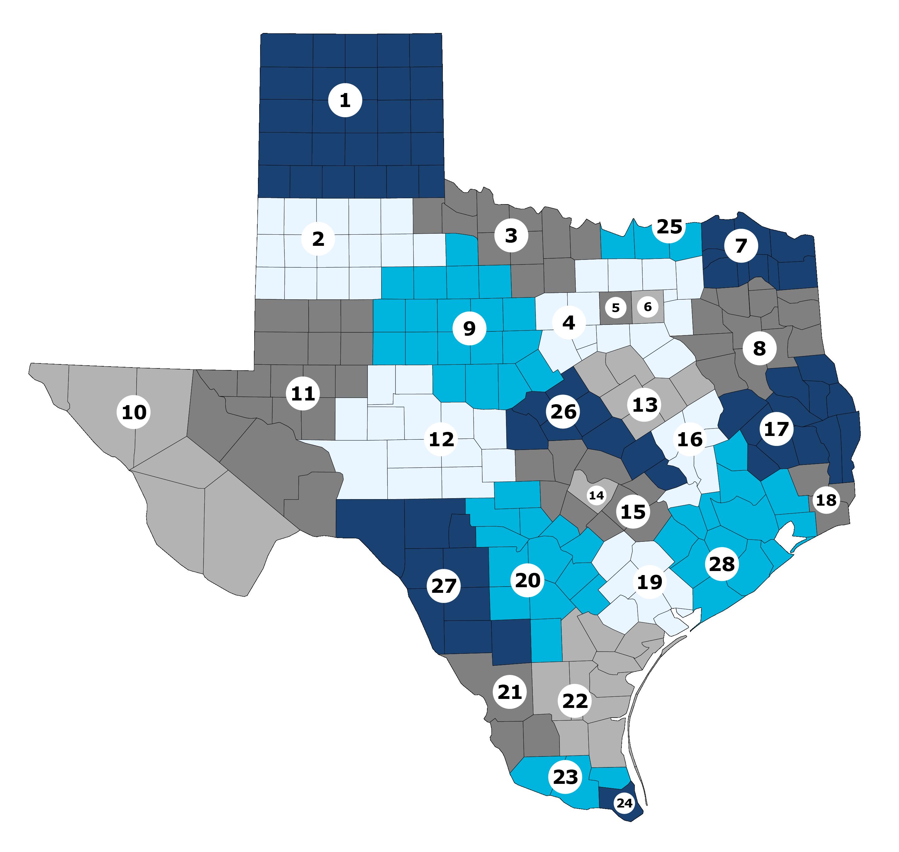 map of texas workforce development boards
